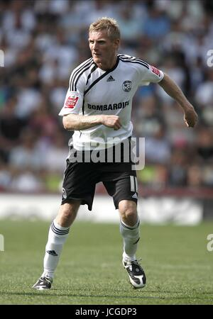 GARY TEALE DERBY COUNTY FC DERBY V PETERBOROUGH PRIDE PARK, DERBY, ENGLAND 08 August 2009 DIY98808     WARNING! - Stock Photo