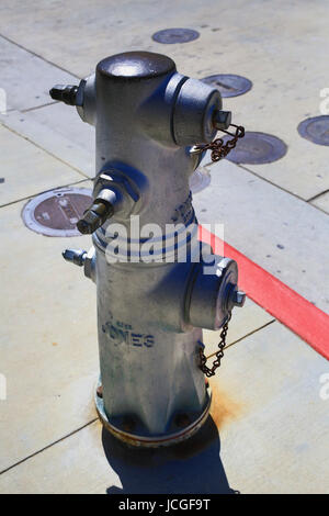 Fire hydrant on Cannery Row, Monterey - Stock Photo