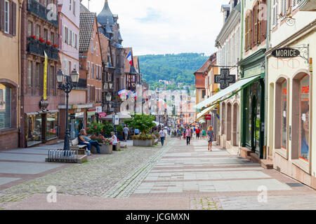 Main street in Saverne, Alsace, France. - Stock Photo