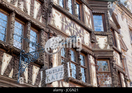 Maison Katz house from 17th Century (Taverne Katz), Saverne, Alsace, France. - Stock Photo