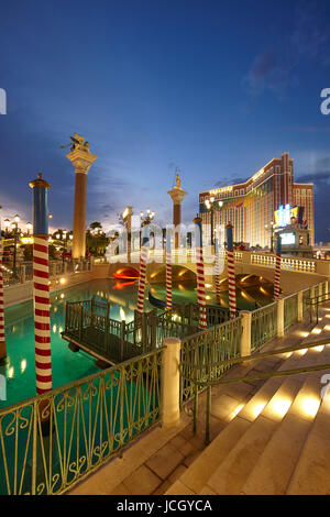 The Venetian hotel in Las Vegas, Nevada, United States - Stock Photo