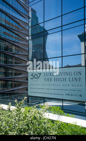 507 West Chelsea, a luxury residences for rent next to the High Line in New York City - Stock Photo