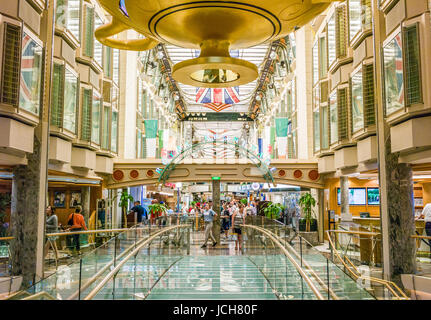 ROYAL PROMENADE ABOARD CRUISE SHIP INDEPENDANCE OF THE SEAS  FRANCE MAY 30TH: Guest aboard the Cruise ship Indendance - Stock Photo