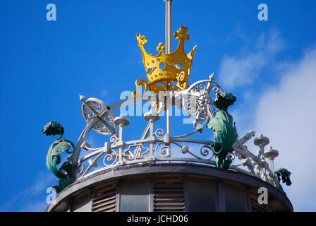 roof decoration of markthalle valencia youth stiletto - Stock Photo