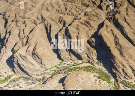 Canyon of the Swakopmund river, Namibia, Africa - Stock Photo