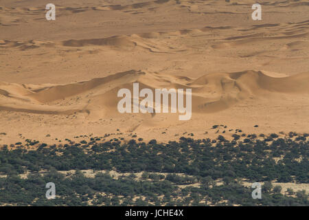 Sand dunes at the Swakopmund river, Namibia, Africa - Stock Photo