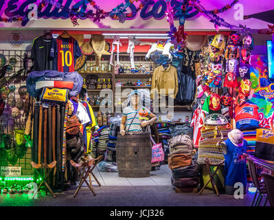 Mexican Gifts Store Facade - Puerto Vallarta, Jalisco, Mexico - Stock Photo