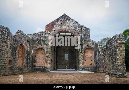 Ruins of the Convent of Conception (Convento de las Monjas de la Concepción) at Panama Viejo Ruins - Panama City, - Stock Photo