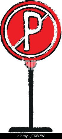 no park zone parking sign icon image  - Stock Photo