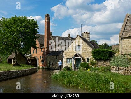 The Old Mill, in the village of Lower Slaughter, Gloucester, England UK - Stock Photo