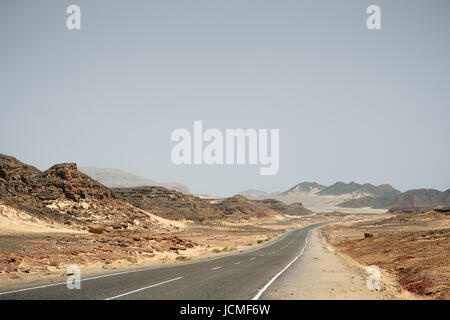 Road in South Sinai. Egypt - Stock Photo