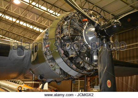 B 17 Flying Fortress Sally B Memphis Bell engine close up - Stock Photo
