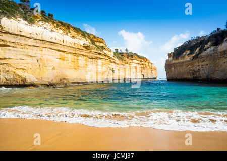 Loch Ard Gorge, Port Campbell on the Great Ocean Road, South Australia, near the Twelve Apostles - Stock Photo