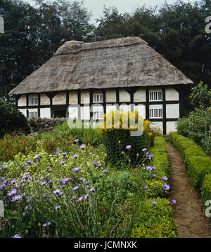 Abernodwydd farmhouse at St Fagans National Museum of History. Cardiff. Cymru. Wales - Stock Photo