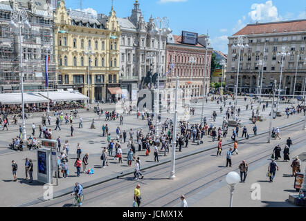 Ban Jelacic Square - Stock Photo