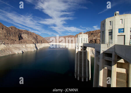 Hoover Dam and Lake Mead - Stock Photo