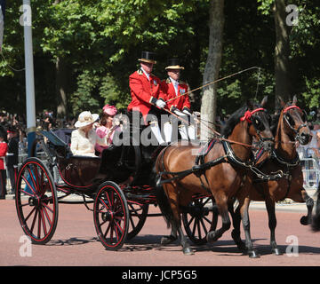 London UK .17 June 2017 in Honour of the 91st Birthday of Her majesty the Queen ,the annual ceremony of Trooping - Stock Photo