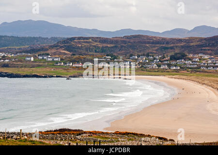 Killahoey Beach from Horn Head loop road, Dunfanaghy, County Donegal, Ireland - Stock Photo