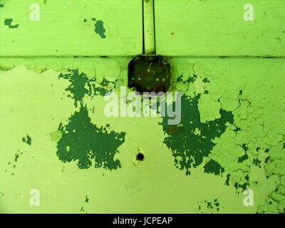 Electric Green Electrical Box - Stock Photo