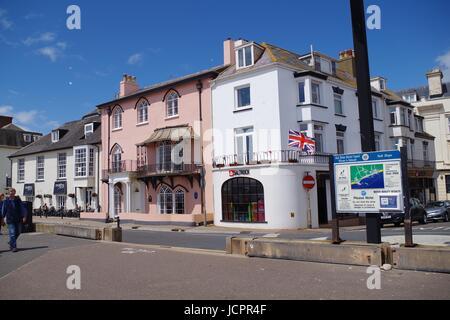 Sidmouth Promenade, Devon. UK, June, 2017. - Stock Photo
