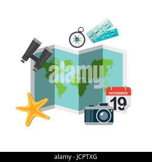 enjoy vacations travel isolated icon - Stock Photo