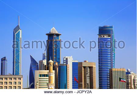 Real Estate Growth In Kuwait City - Stock Photo
