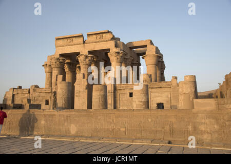 Partial view of the Temple of Kom Ombo, Is an unusual double temple, It was constructed during the Ptolemaic dynasty, - Stock Photo
