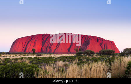 Uluru (Ayers Rock), Uluru-Kata Tjuta National Park, UNESCO World Heritage Site, Northern Territory, Australia - Stock Photo