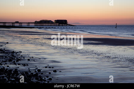 The last light o a summer's day at Cromer, North Norfolk, England, Europe - Stock Photo