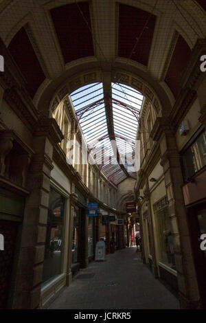 Derby, England, 14th, June, 2001.  General views along The Strand Arcade, Sadler Street,  in the Cultural Quarter - Stock Photo