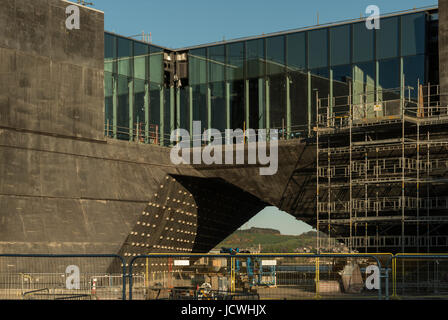 V&A Design museum under construction, Dundee waterfront, Dundee, Scotland, UK - Stock Photo