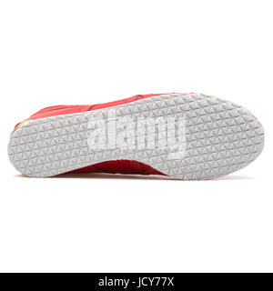 Onitsuka Tiger Mexico 66 Red Leather Unisex Sports Shoes - D507L-2323 - Stock Photo