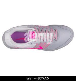 Nike WMNS Dual Fusion X Wolf Grey and Pink Women's Running Shoes - 709501-006 - Stock Photo