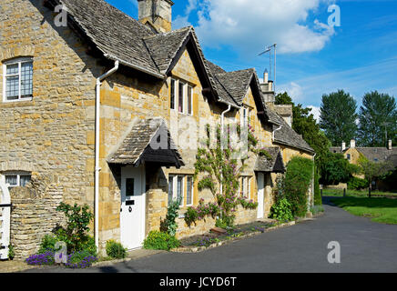 The village of Lower Slaughter, Cotswolds, Gloucestershire, England UK - Stock Photo