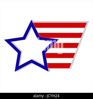 United States of America flag logo symbol emblem - Stock Photo