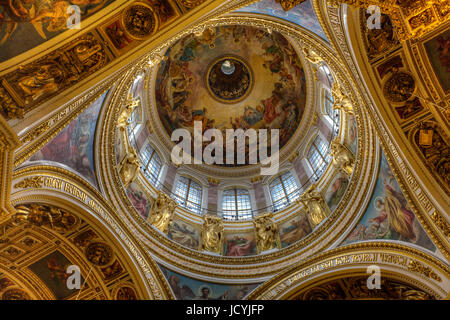 St. Isaac Cathedral, interior. St. Petersburg. Russia - Stock Photo