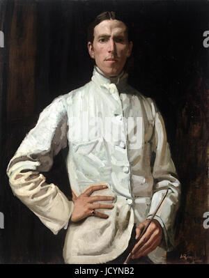 Hugh Ramsay, Self-portrait in White Jacket 1901-1902 Oil on canvas. National Gallery of Victoria, Australia. - Stock Photo