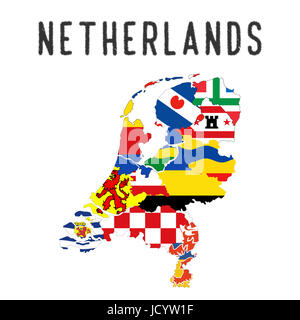 map and flag of the netherlands Stock Photo: 225603500 - Alamy