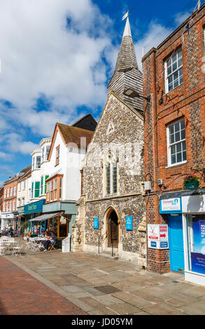 Saxon Church of St Olave, now a Christian bookshop, oldest building in Chichester, a city in and county town of - Stock Photo