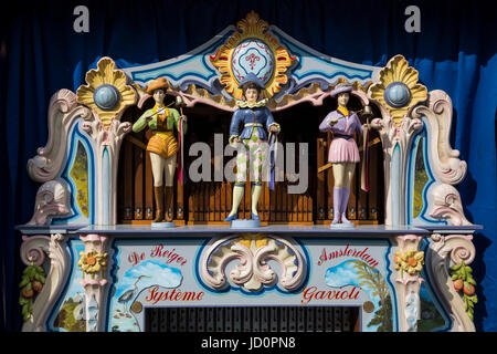 London, UK. 17 June 2017. Dutch Street Organ at Highgate Village's annual festival 'Fair in the Square' in and around - Stock Photo