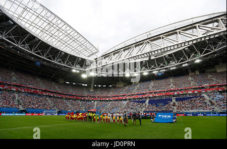 St. Petersburg, Russia. 17th June, 2017. Match between Russia and New Zealand valid for the first round of the 2017 - Stock Photo