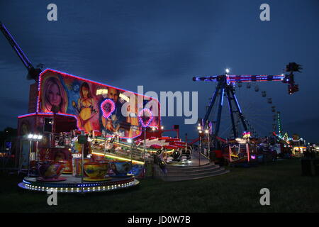 Newcastle upon Tyne, UK. 16th June, 2017. The Hoppings Europe's largest travelling funfair on Newcastle upon Tyne's - Stock Photo