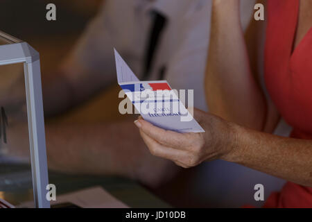 Tours, France. 18th June 2017. France votes in the second round of parliamentary elections on Sunday, in run-off - Stock Photo