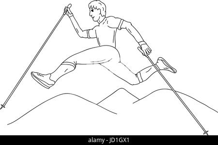 adrien veczan sport sports isolated colour illustration paint draw humans - Sports Pictures To Colour