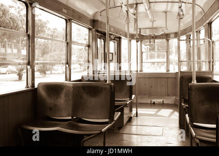 vintage train interior with wooden seats stock photo 71662774 alamy. Black Bedroom Furniture Sets. Home Design Ideas