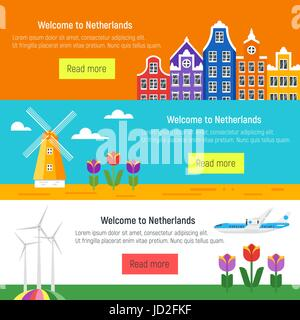 National symbols and flag of netherlands stock photo 39722829 alamy vector flat style set of welcome to netherlands template for web banner or poster for tourist ccuart Choice Image