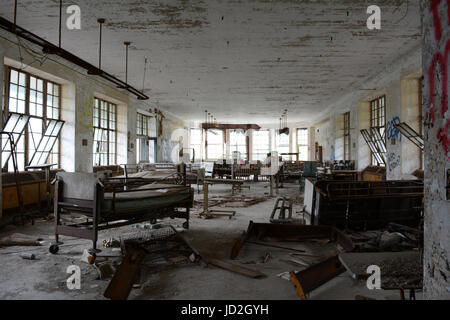 Room and Equipment in Abandoned Hospital - Stock Photo