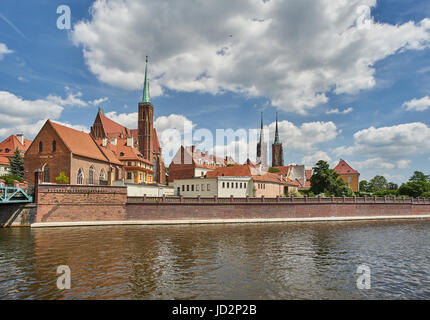 The Holy Cross Church and Saint John's Cathedral Wroclaw - Stock Photo