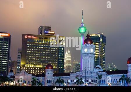 Kuala Lumpur, Malaysia - 5th May 2017: Independence square, Merdeka dataran, is a popular tourist destination. Shot - Stock Photo
