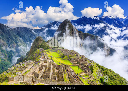 Machu Picchu, Peru. UNESCO World Heritage Site. One of the New Seven Wonders of the World - Stock Photo